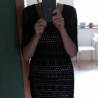 Czarna koronkowa sukienka Depare