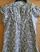 bawełniana bluzka bluzka w kwiatki bluzka