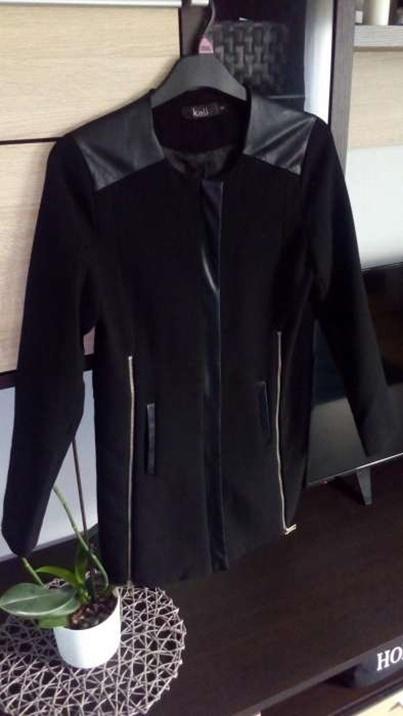 Odzież wierzchnia Czarny płaszcz damski