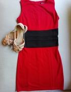 Klasyczna czerwona sukienka rozm S...