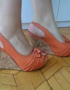 Sandały koturny na koturnie platforma