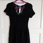 sukienka czarna koronka vila M