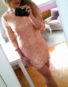 Złota cekinowa sukienka cekiny bodycon S 36