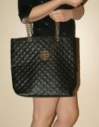 złoto czarna torba glamour