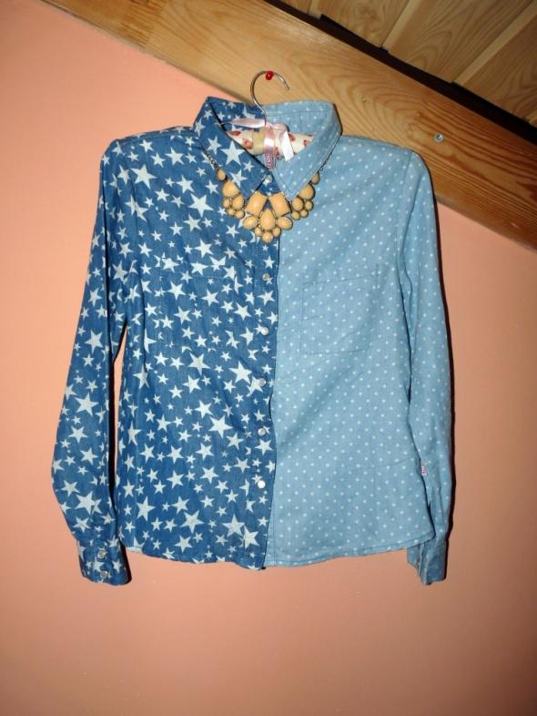 Koszula gwiazdki kropki jeans XXS XS