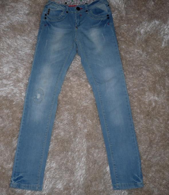 spodnie dzinsowe dziewczęce 146 152 h&m...