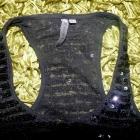 czarna bluzka cekiny bokserka bershka L
