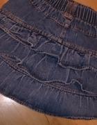 Jeansowa fikusna spodniczka