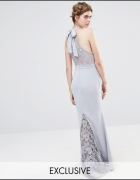 JARLO maxi sukienka koronkowe wstawki XS...