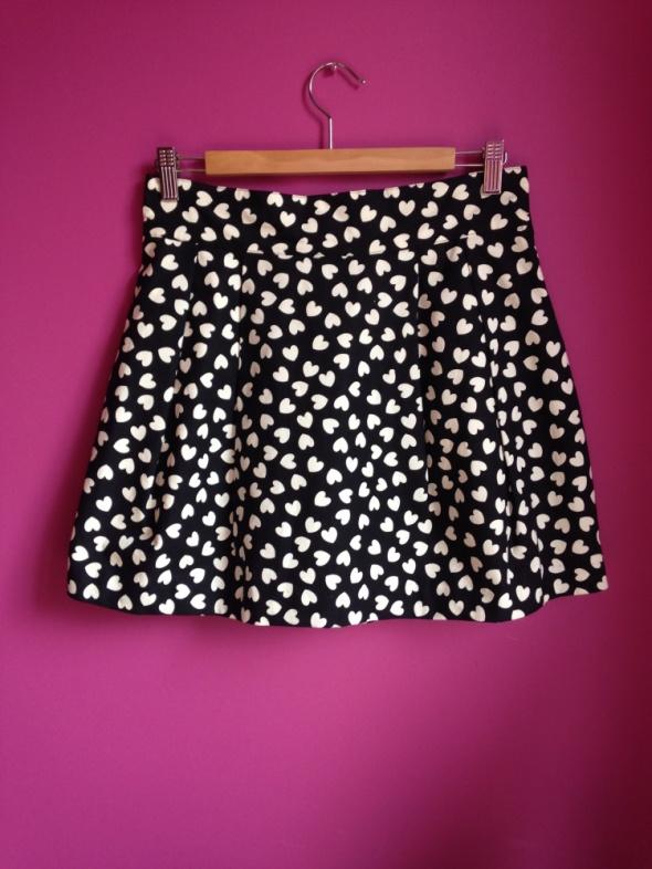 Spódnice Czarna spódniczka w serduszka H&M