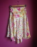 Spódnica midi floral kropki Yoshe