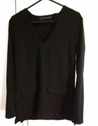 Bluzka elegancka Zara dekolt w serek