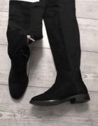 Kozaki za kolano XL muszkieterki zamszowe Stradivarius poszukiw...