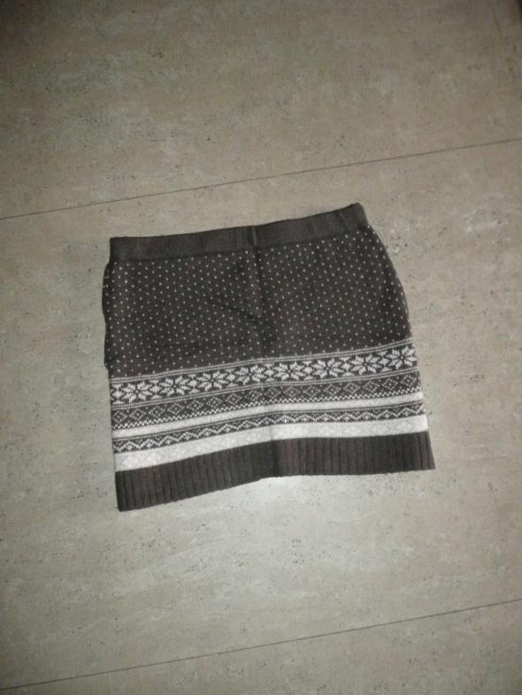 Spódnice dzianinowa spódnica bandażowa wzór norweski