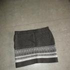 dzianinowa spódnica bandażowa wzór norweski