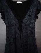 Promod piękna bluzka z dekoltem koronka...