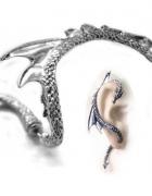 nausznica smok kolczyk na jedno ucho