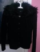 Czarny sweter z misiem w środku Tally Weijl 36 S