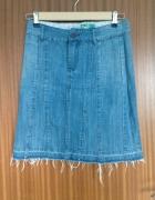 Spódniczka midi dżinsowa postrzępiona M