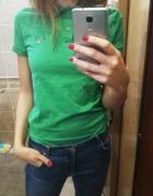 zielona koszulka bluzka polo gant s uniseks...