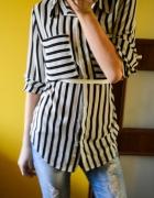 Sexi koszula w paski oversize