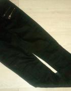 Spodnie Rurki Woskowane S M