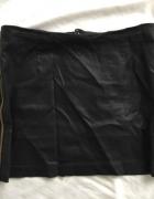 Woskowana spódniczka z zamkami HM xs s