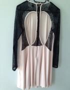 Sukienka trapezowa kształt A ASOS koronka wycięcia