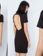 bershka czarna sukienka