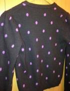 Rozpinany sweterek marki Benetton w groszki