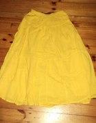 Żółta maxi spódnica