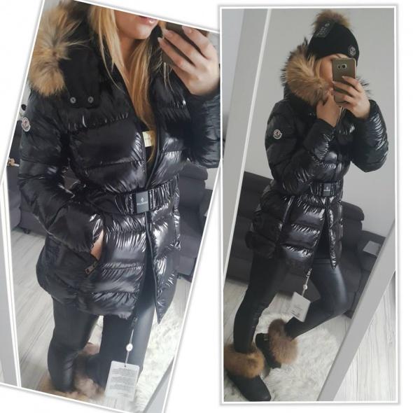 Odzież wierzchnia Kurtka zimowa Moncler czarna nowa pikowana S M L XL jenot