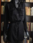 Elegancka sukienka tunika czarna...