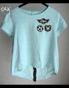 Koszulka t shirt Air Force naszywki niebies NOWOŚĆ