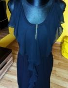 sukienka z zipem i falbanka M L...