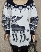Sweterek świąteczny wzory świąteczne renifer 48