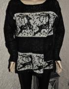 w renifery sweterek cekiny kieszonka 38
