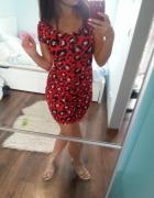 Sukienka dopasowana bandażowa czerwona XS S...