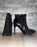 Nowe czarne botki szpilka rozmiar 40