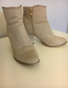 Botki beżowe H&M ankle boots obcas