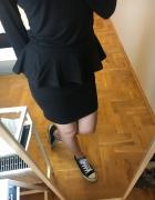 Spódniczka z baskinką czarna mini midi klasyczna