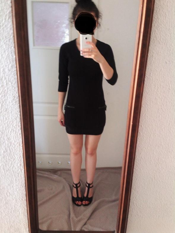 Suknie i sukienki Krótka czarna sukienka mini Diverse XS rękaw 3 4