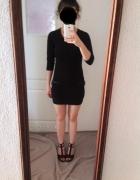 Krótka czarna sukienka mini Diverse XS rękaw 3 4...
