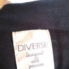 Krótka czarna sukienka mini Diverse XS rękaw 3 4