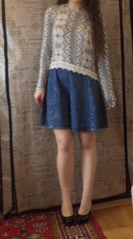 Jeansowa spódniczka rozkloszowana S mini nowa