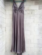 Długa elegancka suknia wieczorowa na ramiączkach rozm 40...