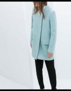 płaszcz wełna zara baby blue r s