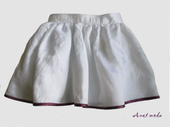 Sukienki i spódniczki Spódnica dla dziewczynki biała zamek rozm 110 116