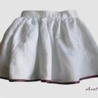 Spódnica dla dziewczynki biała zamek rozm 110 116