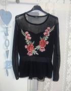 Nowa bluzka motyw róż baskinka
